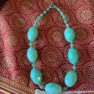 Jewelry - Large real green stone necklace